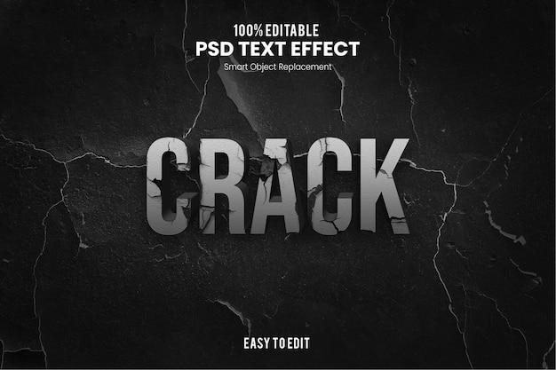 Cracktext-effect