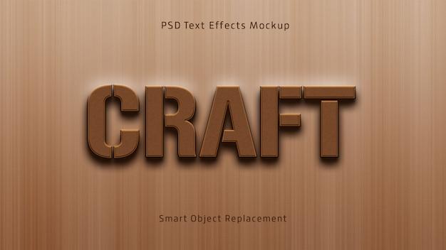 Craft 3d-teksteffecten mockup