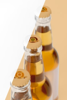 Craft beer arrangement concept mock-up