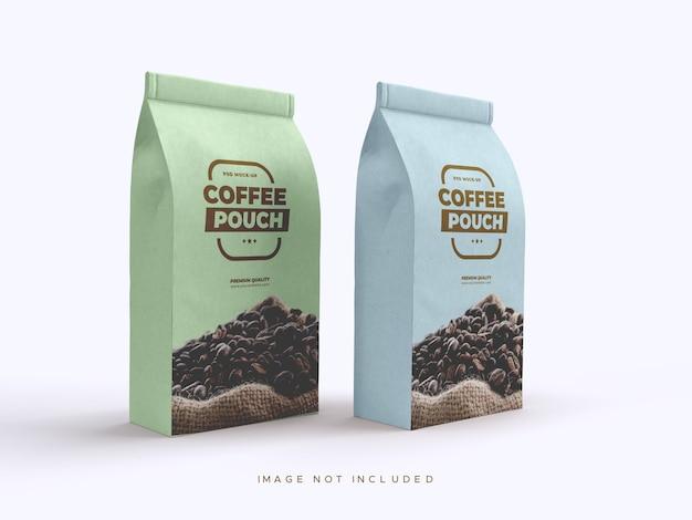 Craft brown paperbag-verpakking voor koffiebonen, gedroogd fruit en andere etenswaren