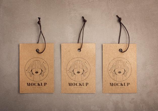 Craft kledingstuk hanger tags mockup