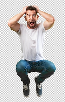 Crazy man springen