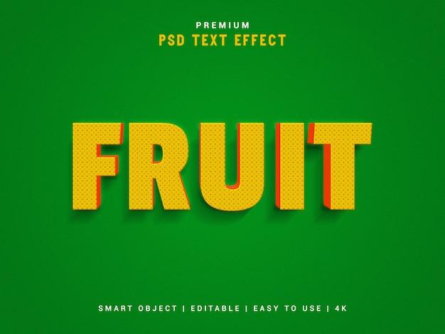 Creador de efectos de texto tipográfico de frutas