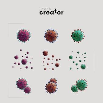 Creador de la escena del concepto de coronavirus