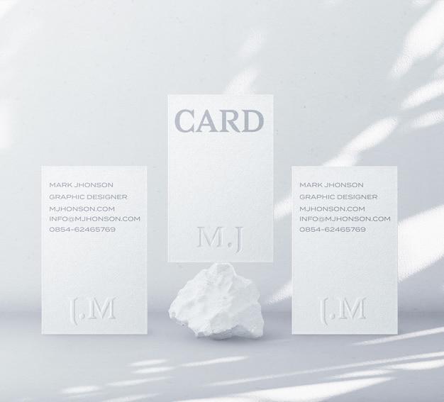 Creador de escena de maqueta de tarjeta de visita mínima