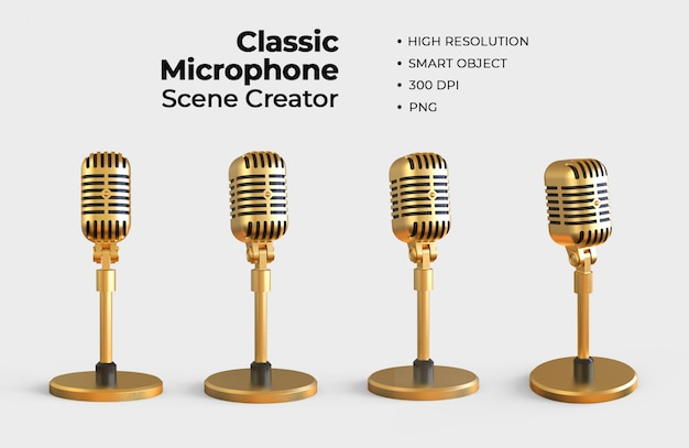 Creador de escena de micrófono clásico