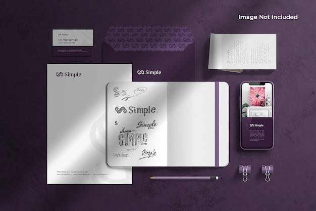 Creador de escenas de maquetas de identidad de marca de papelería