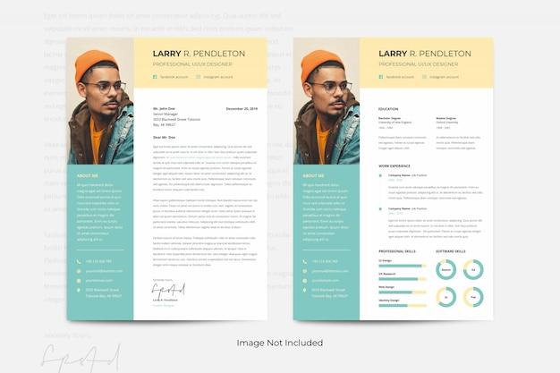 Creaive minimalistische cv cv-sjablonen curriculum vitae pastelkleur