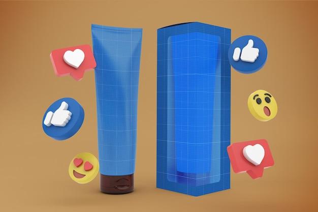 Cream tube-sociale media