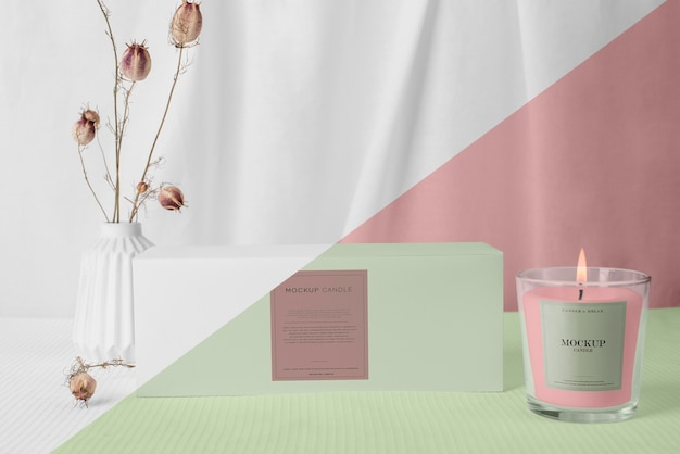 Creatief assortiment mock-up kaarsenverpakkingen