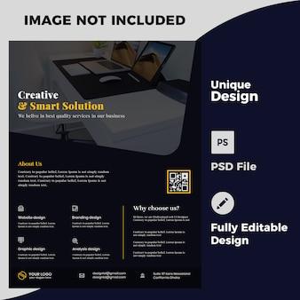 Creatief bedrijf flyer ontwerp psd-sjabloon
