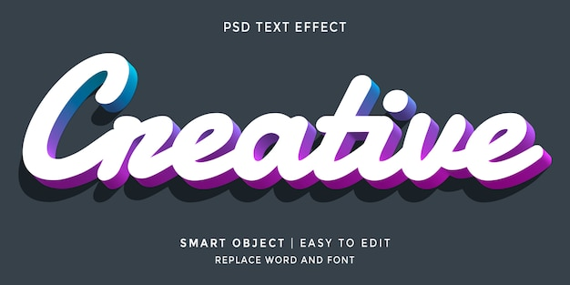 Creatief bewerkbaar 3d-stijl teksteffect