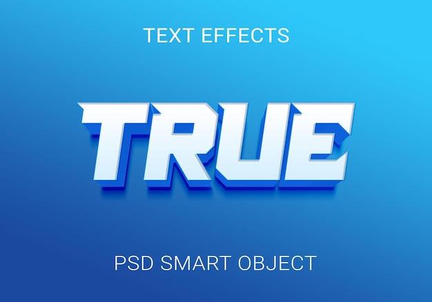 Creatief blauw teksteffect