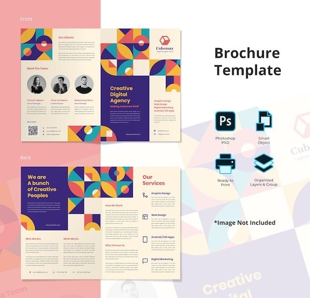 Creatief bureau bifold flyer-sjabloon