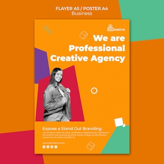 Creatief bureau flyer-sjabloon
