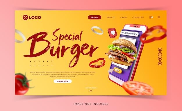 Creatief concept hamburger menu marketing promotie sjabloon