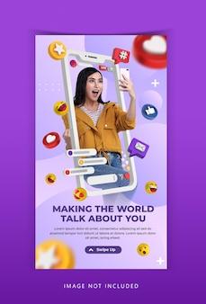 Creatief concept live streaming workshop instagram-sjabloon