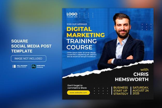 Creatief concept social media instagram post voor digitale marketing promotie sjabloon