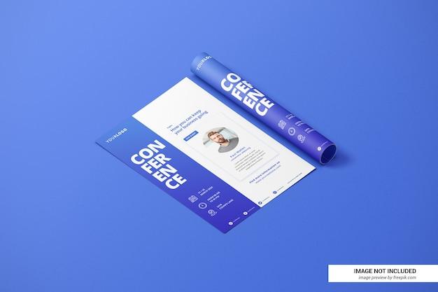 Creatief cv of flyer mockup