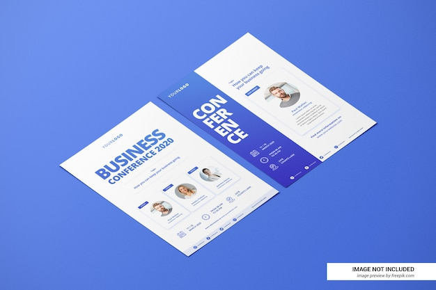 Creatief cv of flyer mockup