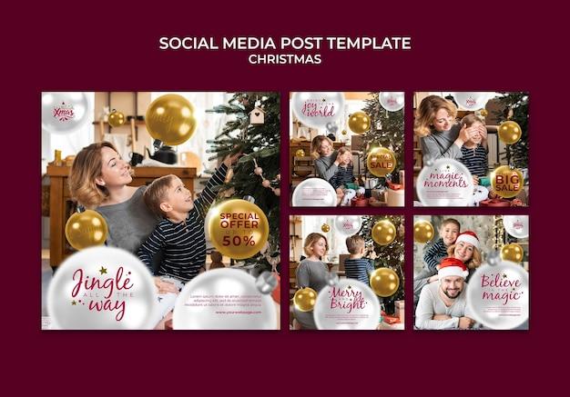 Creatief feestelijk kerst-ig berichtenpakket
