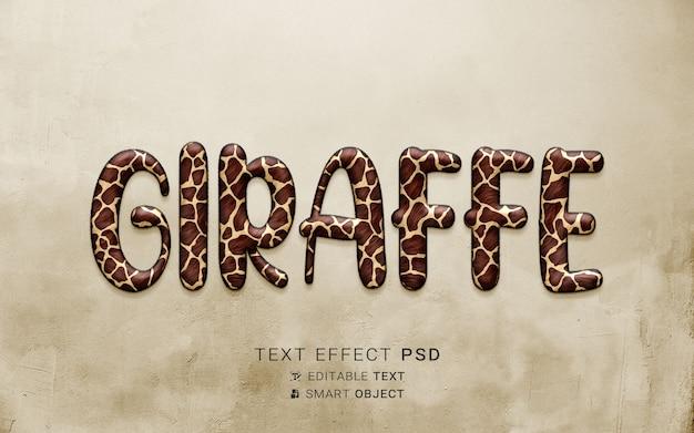 Creatief giraf-teksteffect