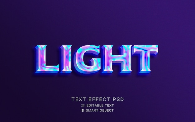 Creatief holografie-teksteffect