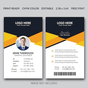 Creatief id card-ontwerp