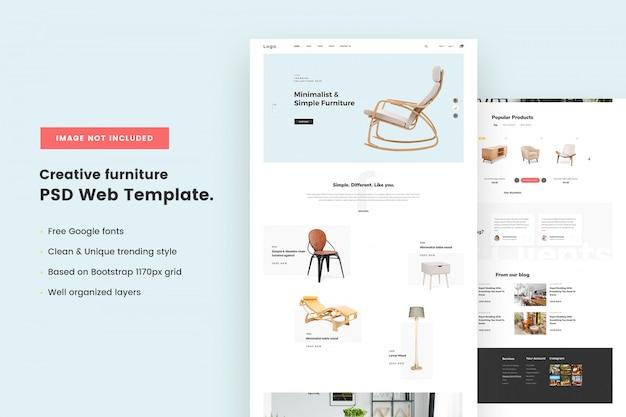 Creatief meubilair websjabloon