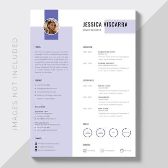 Creatief minimalistisch cv curriculum vitae