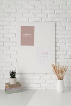 Creatief mock-up kalenderarrangement