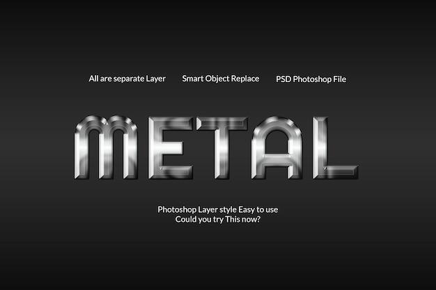 Creatief modern metalen zilveren teksteffect