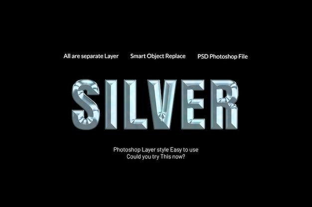 Creatief modern zilveren teksteffect