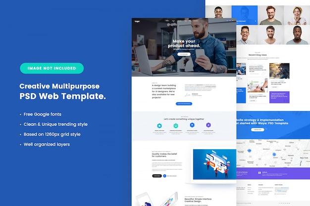 Creatief multifunctioneel websjabloon