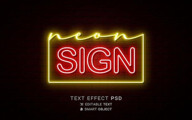 Creatief neon-teksteffect
