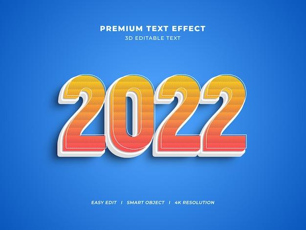 Creatief nieuwjaar bewerkbaar teksteffect met decoratieve lijn