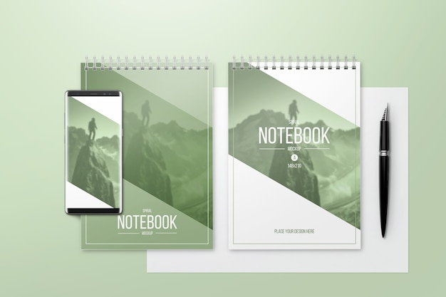 Creatief notitieboekjemodel