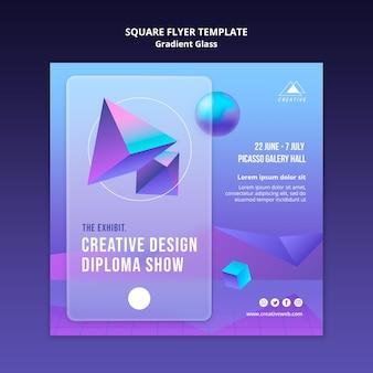 Creatief ontwerp kwadraat flyer sjabloon