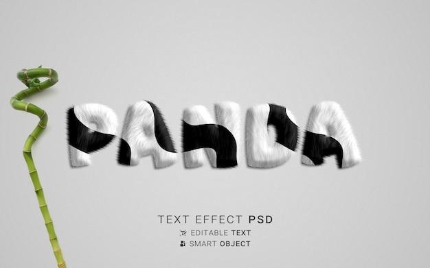 Creatief panda-teksteffect