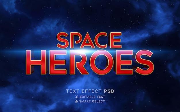 Creatief superheld-teksteffect