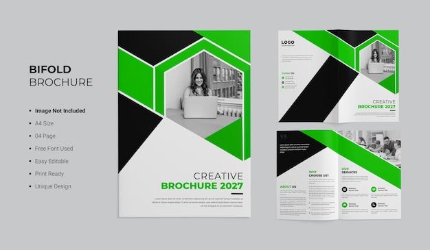 Creatief tweevoudig brochureontwerp