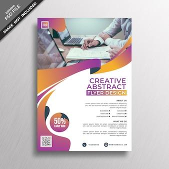 Creatieve abstracte sjabloon folder