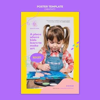 Creatieve afdruksjabloon voor kinderen