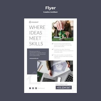 Creatieve architect flyer