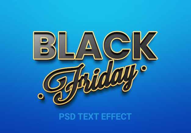 Creatieve bewerkbare teksteffecten in zwarte vrijdagstijl