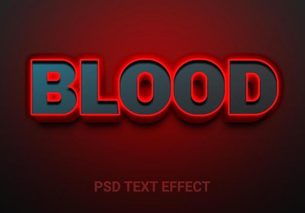 Creatieve bloed vet bewerkbare teksteffecten