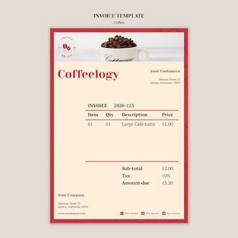 Creatieve coffeeshop factuursjabloon Gratis Psd