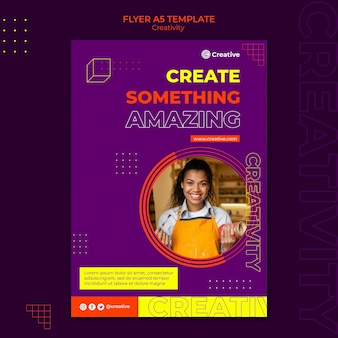 Creatieve en fantasierijke ontwerpsjabloon voor flyers