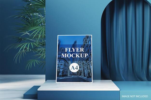 Creatieve en minimale flyer-brochure mockup in 3d-rendering