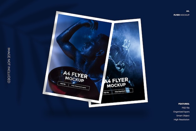Creatieve en minimale flyer-brochure mockup